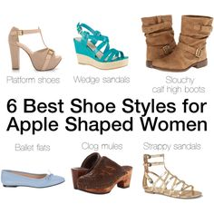 best shoes for apple shaped women - Polyvore