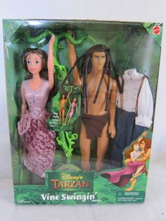 Disney's Tarzan Vine Swingin' Swinging Tarzan Jane Barbie Fashion Doll