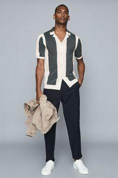 Best Mens Fashion, Male Fashion, Abercrombie Men, Stylish Mens Outfits, Summer Fashion Outfits, Mens Clothing Styles, Collar Shirts, Look Cool, Menswear