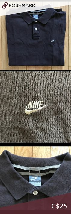 Early Embroidered Nike Polo T-Shirt (XL) Great condition, no flaws. Colour is a light brown. SiE men's XL! Nike Brown, Plus Fashion, Fashion Tips, Fashion Trends, Polo T Shirts, Nike Men, Flaws, Man Shop, Things To Sell