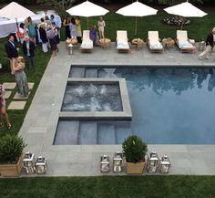 Square Pool, Home Pool, Home Swimming Pool, Swimming Pool Designs, Pool Paving, Concrete Pool, Backyard Pools, Garden Pool, Outdoor Landscaping