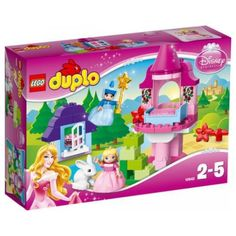 The Lego Duplo Disney Princess Sleeping Beauty's Fairy Tale welcome to Sleeping Beauty's world with a tower, cottage and a bunny!