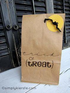 DIY Halloween Crafts : DIY Halloween Paper Sack Gift Bags