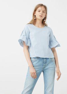 Poplin blouse - Woman | MANGO United Kingdom