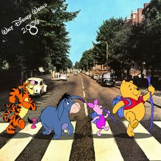 Whinny Pooh Abbey Road The Beatles Style Abbey Road, Disney Love, Walt Disney, Rock And Roll, Hundred Acre Woods, Les Beatles, Winnie The Pooh Friends, Baguio, Pooh Bear