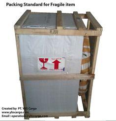 Fragile item in packaging