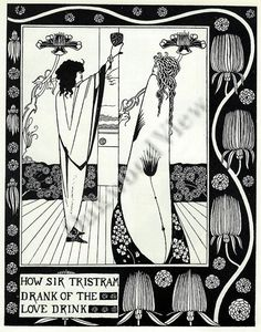 Sir Tristram Love Drink Print by Aubrey Beardsley by OakwoodView