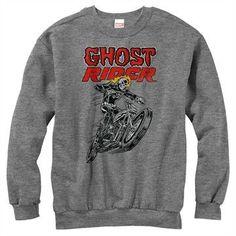 Ghost Rider Bike Pose Sweatshirt