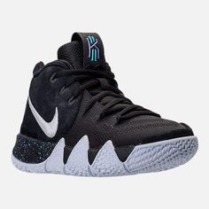 huge discount b050c c7e47 ... discount code for nike kyrie 4 black purple jade discount shoes  pinterest 45be8 0af6f