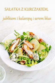Salad with chicken, apple and kohlrabi Chicken Salad, Salads, Apple, Food, Apple Fruit, Essen, Meals, Yemek, Salad