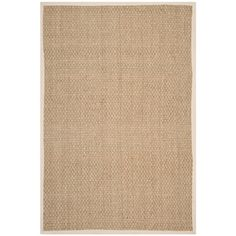 Safavieh Hand-Woven Natural Fiber Natural/ Ivory Seagrass Rug (10' x 14')
