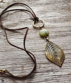 Forest Necklace Large Leaf Necklace Nature Inspired by LOVEnLAVISH, $26.00