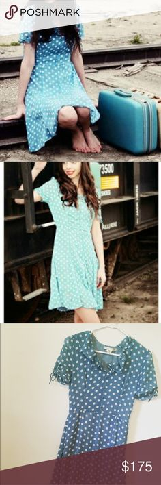 Polka Dot Dress This is so fun and lovely. Worn once for this photo shoot. Great condition! Uttam Boutique Dresses