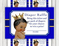 Blue and Gold Little Prince Royal Baby Shower by LegendImaging