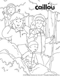 Caillou's Fall Fun – Coloring Sheet!
