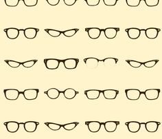 I'm picturing an adorable skirt, just to the knees, full (gathered)  @spoonflower -- retro glasses frames