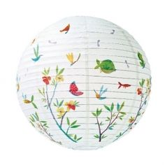 Djeco Rice Paper Lampshade - this would look great in a nature inspired bedroom!