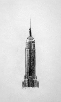 The Empire State Building - Pencil Drawing (2013, graphite):