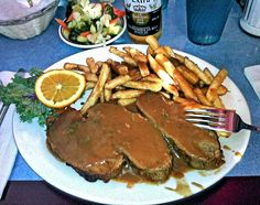 """""""Meatloaf"""" - Broadway Diner in Baltimore, Maryland. Which was featured on Diners, Drive-ins and Dives on the Food Network."""