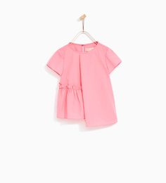 PLEATED POPLIN TOP