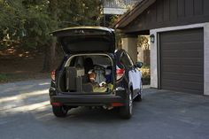 With three unique modes, the HR-V Crossover's cargo area can fit a surprising amount of cargo. It's perfect for road trips with your friends.   Honda reminds you to properly secure items in the cargo area.