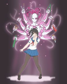 Yandere Simulator: Stand Concept by aea on DeviantArt Sword Art Online, Yandere Simulator Fan Art, Yendere Simulator, Jojo Stands, Yandere Girl, Yandere Manga, Yuno Gasai, Bad Romance, Jojo Bizzare Adventure