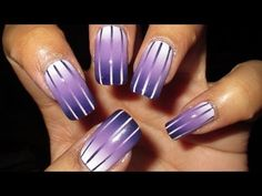 Reciprocal Gradient Nail Art Tutorial Top 10 #Nail Designs For Radiant Orchid – Pantones 'Color of the Year' 2014 via @Inspirationail
