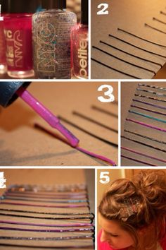 Color your bobby pins