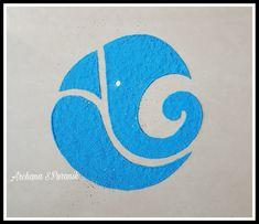 Easy Rangoli Designs Diwali, Rangoli Simple, Free Hand Rangoli Design, Rangoli Ideas, Colorful Rangoli Designs, Diwali Diy, Ganesha Drawing, Lord Ganesha Paintings, Ganesha Art