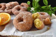 Donut Recipes, Cooking Recipes, I Love Food, Good Food, Samira Tv, Donut Decorations, Sweet Dough, Homemade Donuts, Pan Bread