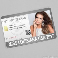 Bethany Trahan Miss Louisiana USA 2017 Card