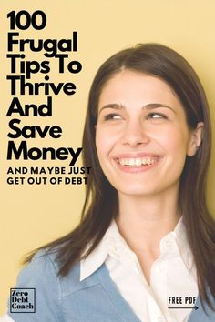 """Getting control of your money and getting out of debt can be two overwhelming steps in a challenging process. This list is meant to help you get the money-saving idea juices flowing. Once you're """"in the flow"""" it's much easier to organize your finances, get on a written budget and eliminate debt. Ways To Save Money, Money Tips, Money Saving Tips, How To Make Money, Money Plan, Frugal Living Tips, Frugal Tips, Budgeting Tips, Budgeting Finances"""