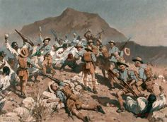 2nd Battalion 5th Gurkha Rifles at Ahnai Tangi, North-West Frontier, India, 14 January 1920 by Fred Roe