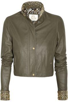 Sara Berman Shai Studded Cropped Leather Jacket Profile Photo