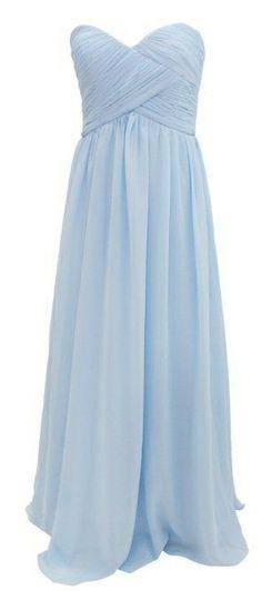 Sky Blue Sweetheart Ruched Bodice Bridesmaid Dress Long Bridesmaid Dress