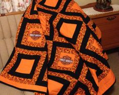 harley davidson quilts | harley davidson quilts on Etsy, a global handmade and vintage ...