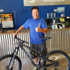 Look who's happy with his new Santa Cruz #ebikes #temecula #sandiego #fun #Fitness #bicycles #bike #