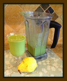 Autumn Greens Smoothie - my favorite (non-chocolate) smoothie! Hint: think pear and cinnamon. Yumm.