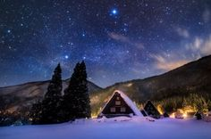 雪あかり。 星あかり。 (岐阜県、白川郷にて先日撮影) 今日もお疲れさまでした。明日もおだやかな1日…についての反応をまとめた画像詳細ページです。