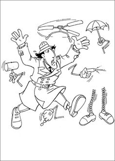 11 best inspector gadget coloring pages images on pinterest