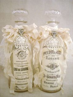 From the-feathered-nest.blogspot.com.  I think free image.  lj  Altered apothecary bottles ~