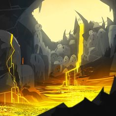 Volcano City  Sun Demon Speed Painting