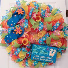 Summer flip flop wreath tutorial