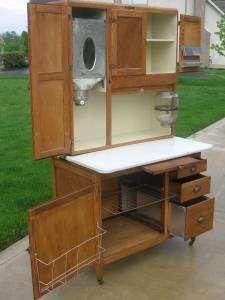 Ordinaire OAK Hoosier NAPANEE Kitchen Cabinet W Flour Bin U0026 Sugar Jar