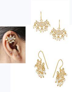 Buy Designer Moti Bugadi Styled With Diamonds Chandrakor Bugadi Online Pendant Jewelry, Jewelry Art, Gold Jewelry, Beaded Jewelry, Jewelry Design, Gold Pendant, Jewelery, Fashion Jewelry, Gold Bangles Design