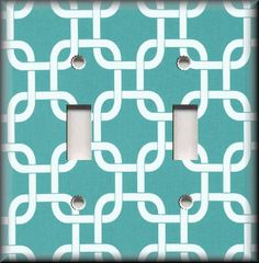 Switch Plates And Outlet Covers - Squares - Turquoise - Geometric Home Decor