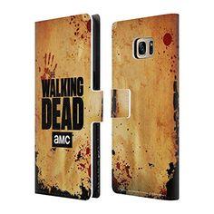 Offizielle AMC The Walking Dead Aufgeschobert Logo Brieftasche Handyhülle aus Leder für Samsung Galaxy S7 edge