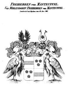Wappen der Freiherren von Manteuffel, Von Mihlendorff