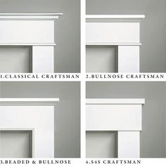 WindsorONE Craftsman Molding Styles, casing & frieze details. Learn more about these different styles on the Classical Craftsman page.