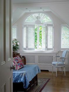 window shutter treatment for difficult window